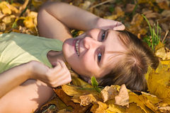 Autumn happiness Stock Image