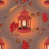 Autumn happy evenings seamless vector pattern. EPS10 file Stock Photos