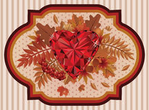 Autumn happy postcard old style Stock Images