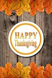 Autumn Happy Thanksgiving Background Imagen de archivo