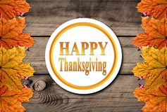 Autumn Happy Thanksgiving Background Royalty Free Stock Photography
