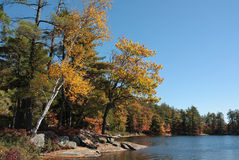 Autumn at Hardy Lake Stock Photo