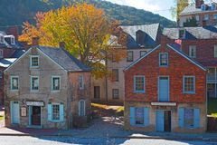 Autumn in Harpers Ferry historic town in West Virginia, USA. stock photography