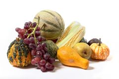 Autumn harvest. A collection of autumn harvest, isolated on white Royalty Free Stock Photography