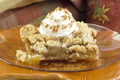 Autumn Harvest Apple Crumb Topped Pie Royalty Free Stock Image