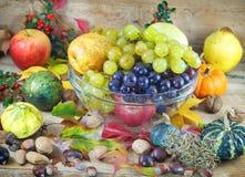 Autumn harvest - autumn decoration Royalty Free Stock Photo