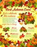 Autumn harvest celebration banner template design Stock Photography