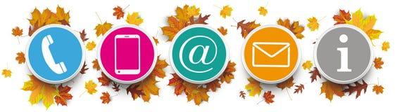 Autumn Harvest Contact US Circles Information Stock Photography