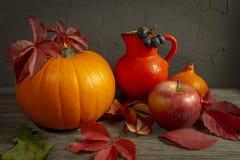 Autumn Harvest en het stilleven van de Vakantiedankzegging royalty-vrije stock afbeeldingen