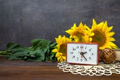 Autumn harvest, fall time, Greeting card concept. Still life wit stock photography