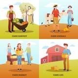 Autumn Harvest Farm Design Concept ilustração stock