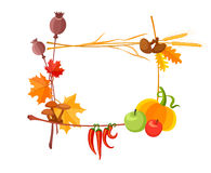 Autumn harvest frame for thanksgiving day Royalty Free Stock Images