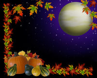 Autumn Harvest Moon Background Stock Photo