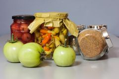Autumn harvest pickle with spice Stock Photo