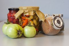 Autumn harvest pickle with spice Stock Photos