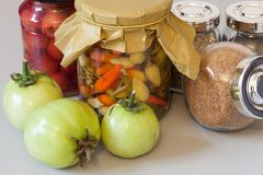 Autumn harvest pickle with spice Royalty Free Stock Images