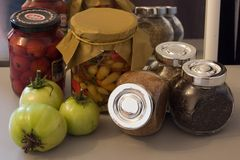 Autumn harvest pickle with spice Royalty Free Stock Photos