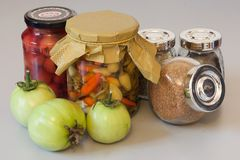 Autumn harvest pickle with spice Stock Image