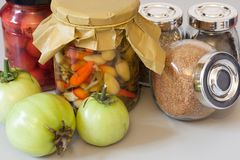Autumn harvest pickle with spice Royalty Free Stock Photography