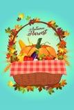 Autumn Harvest Poster royalty-vrije illustratie