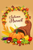 Autumn Harvest Poster stock illustratie
