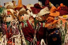 Autumn Harvest Scarecrows Fotografering för Bildbyråer