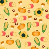 Autumn harvest seamless pattern Royalty Free Stock Photography