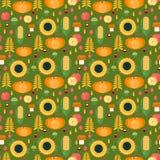 Autumn harvest seamless pattern Stock Image