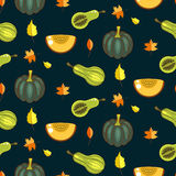Autumn harvest seamless vector pattern. Stock Photography