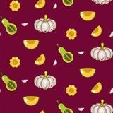 Autumn harvest seamless vector pattern. Stock Photography