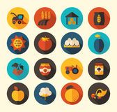 Autumn Harvest Thanksgiving flat icon Royalty Free Stock Images