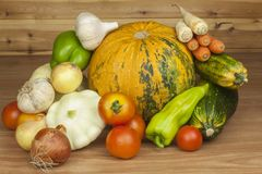 Autumn harvest vegetables. Growing organic vegetables in the country. Diet food for weight loss. Stock Photography