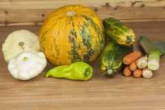 Autumn harvest vegetables. Growing organic vegetables in the country. Diet food for weight loss. Royalty Free Stock Photography