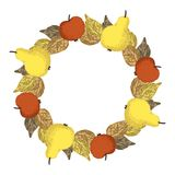 Autumn Harvest Wreath Vector Image libre de droits