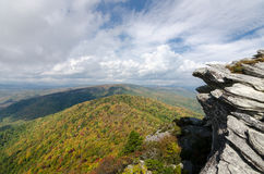 Autumn on Hawksbill. Autumn at Hawksbill Mountain in the Linville Gorge Wilderness Area in North Carolina stock photography