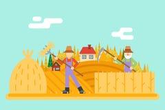 Autumn hay peasant harvestman harvest Icon on Stock Image