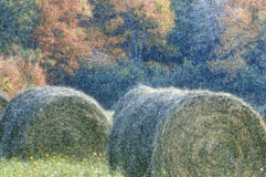 Autumn Hay Stacks, New England Stock Photos