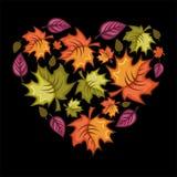 Autumn heart royalty free illustration