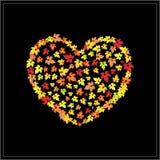 Autumn heart Royalty Free Stock Image