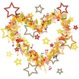 Autumn heart illustration Stock Image