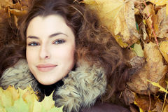 Autumn in her eyes Royalty Free Stock Images