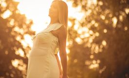 The autumn of her life royalty free stock photo