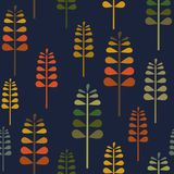 Autumn Herbalism on Navi Seamless Pattern, Fall Nature Surface Pattern Background Forest Floor Repeat Pattern for textile design,. Fabric printing, fashion stock illustration