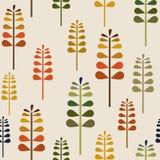 Autumn Herbalism Seamless Pattern, caduta Forest Floor Background Repeat Pattern per progettazione del tessuto, la stampa del tes royalty illustrazione gratis