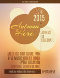 Autumn is Here event flyer. Simple flyer that states Autumn is Here royalty free illustration