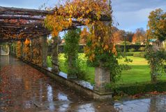 Autumn in Hever Castle Stock Photos