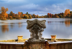 Autumn in Hever Castle royalty free stock images