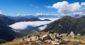 Autumn high mountain lanscape Royalty Free Stock Photo