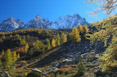 Autumn high mountain lanscape Royalty Free Stock Photography
