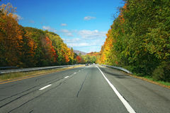 Autumn highway Royalty Free Stock Images
